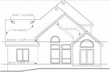 Dream House Plan - European Exterior - Rear Elevation Plan #20-1406