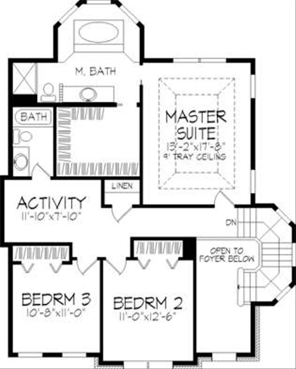 European Floor Plan - Upper Floor Plan Plan #320-147