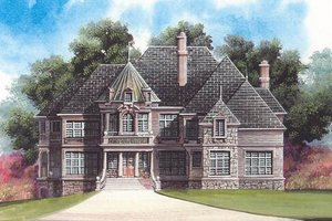 European Exterior - Front Elevation Plan #119-204