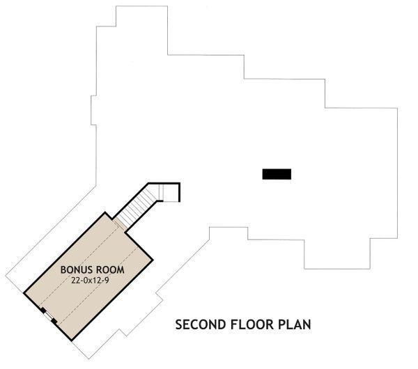 Craftsman Floor Plan - Upper Floor Plan Plan #120-171