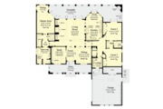 Mediterranean Style House Plan - 3 Beds 2.5 Baths 2250 Sq/Ft Plan #930-501 Floor Plan - Main Floor Plan