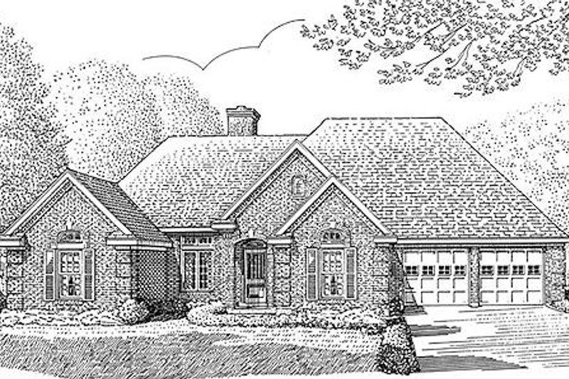 European Exterior - Front Elevation Plan #410-138 - Houseplans.com