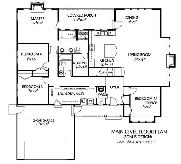 Craftsman Floor Plan - Other Floor Plan Plan #133-109