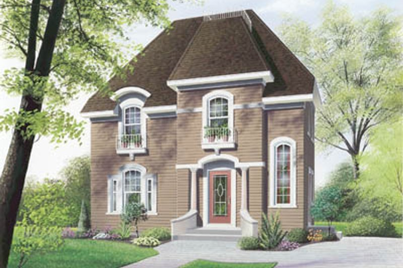 European Exterior - Front Elevation Plan #23-258