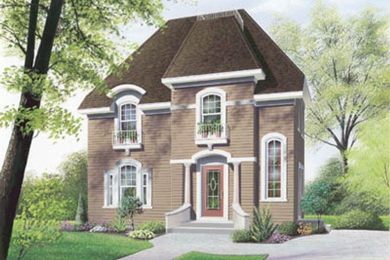 Dream House Plan - European Exterior - Front Elevation Plan #23-258