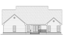 House Plan Design - Country Exterior - Rear Elevation Plan #21-362