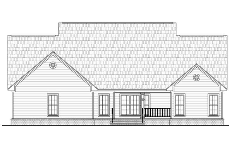 Country Exterior - Rear Elevation Plan #21-362 - Houseplans.com