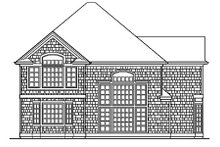 Home Plan - Traditional Exterior - Rear Elevation Plan #48-445