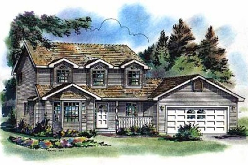 House Blueprint - Traditional Exterior - Front Elevation Plan #18-256
