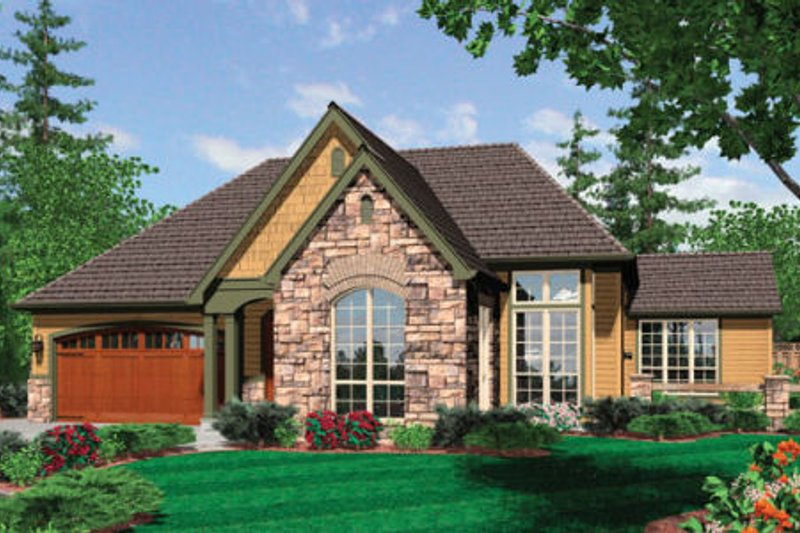 Dream House Plan - European Exterior - Front Elevation Plan #48-282