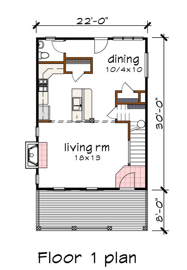 Craftsman Floor Plan - Main Floor Plan #79-313
