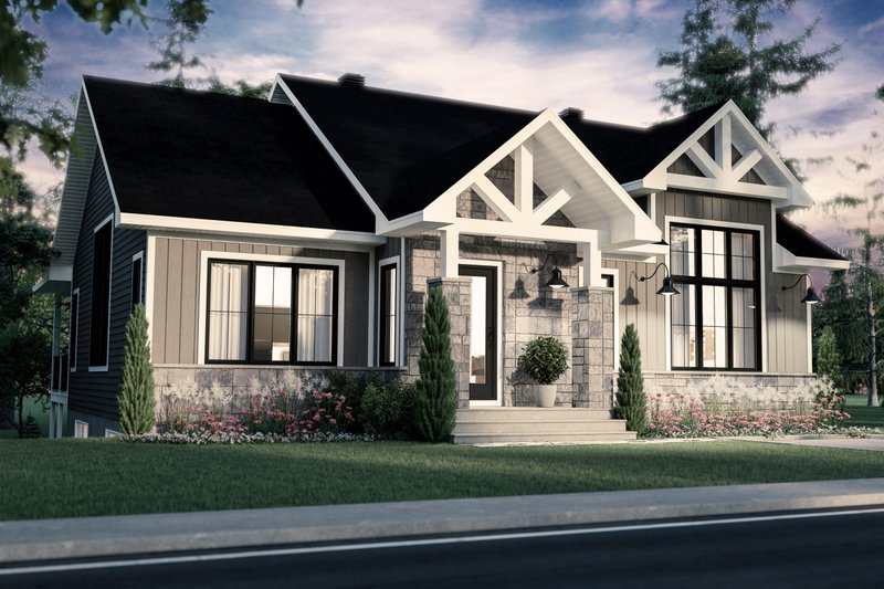 Architectural House Design - Farmhouse Exterior - Front Elevation Plan #23-2741