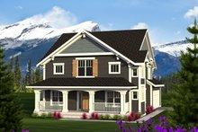 Dream House Plan - Craftsman Exterior - Front Elevation Plan #70-1219