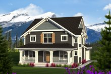 Craftsman Exterior - Front Elevation Plan #70-1219