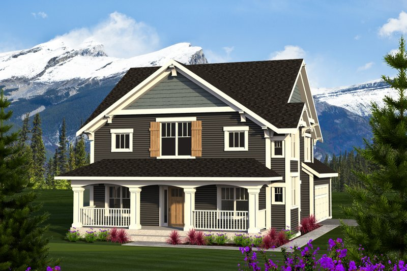 Architectural House Design - Craftsman Exterior - Front Elevation Plan #70-1219