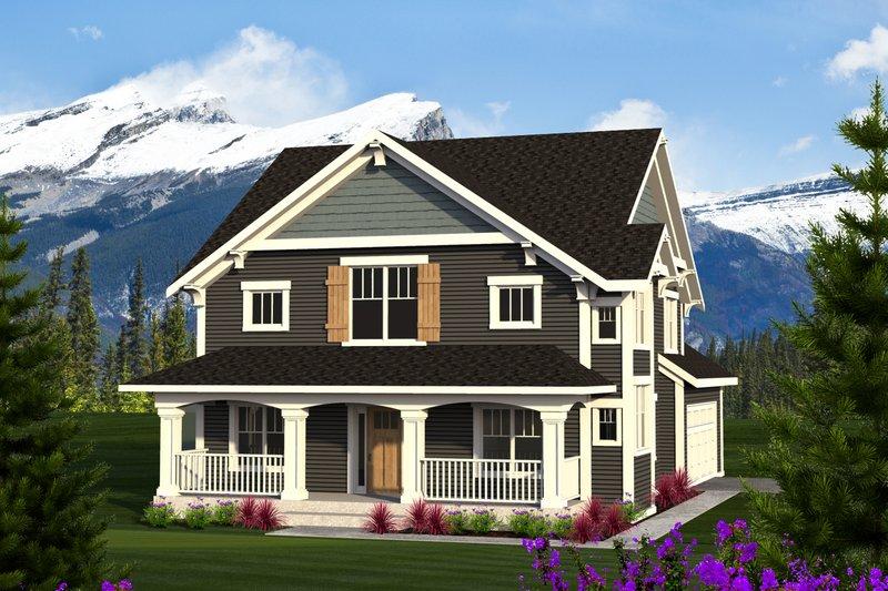 Home Plan - Craftsman Exterior - Front Elevation Plan #70-1219