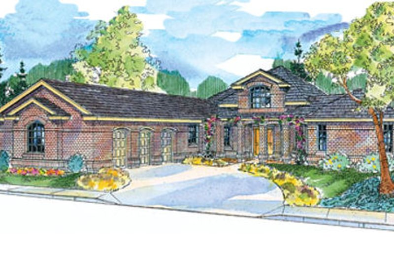 Traditional Exterior - Front Elevation Plan #124-648 - Houseplans.com