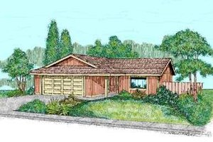 Ranch Exterior - Front Elevation Plan #60-465