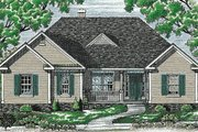 Traditional Style House Plan - 2 Beds 2 Baths 1636 Sq/Ft Plan #20-106 Exterior - Front Elevation