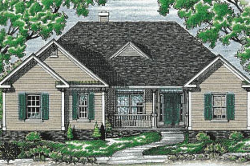 Traditional Exterior - Front Elevation Plan #20-106 - Houseplans.com