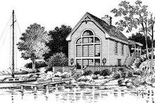 Cottage Exterior - Rear Elevation Plan #57-164