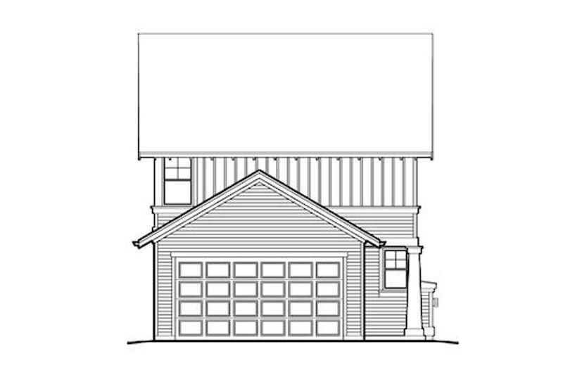 Craftsman Exterior - Rear Elevation Plan #48-493 - Houseplans.com