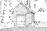 Traditional Style House Plan - 0 Beds 0 Baths 155 Sq/Ft Plan #63-329 Exterior - Front Elevation