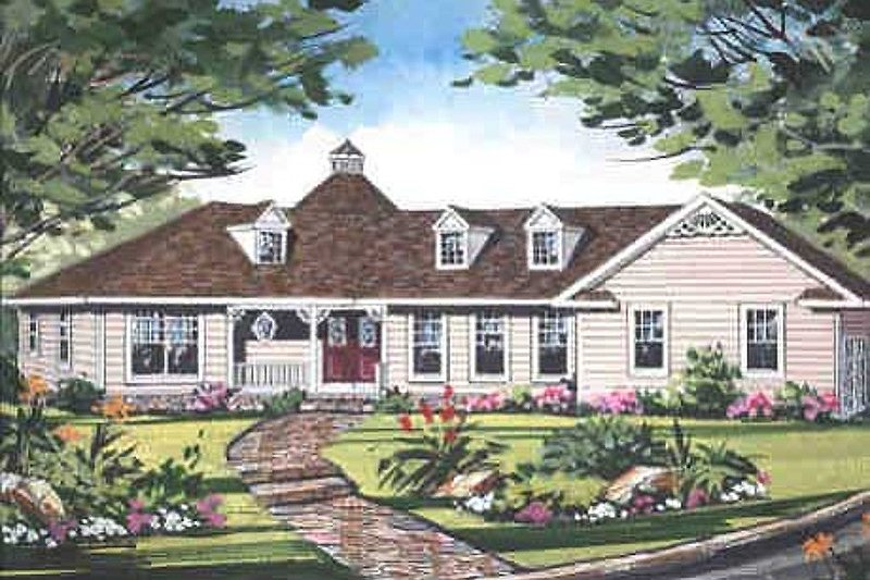 Farmhouse Style House Plan - 3 Beds 2.5 Baths 2243 Sq/Ft Plan #456-18 Exterior - Front Elevation