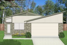 House Design - Contemporary Exterior - Front Elevation Plan #84-513