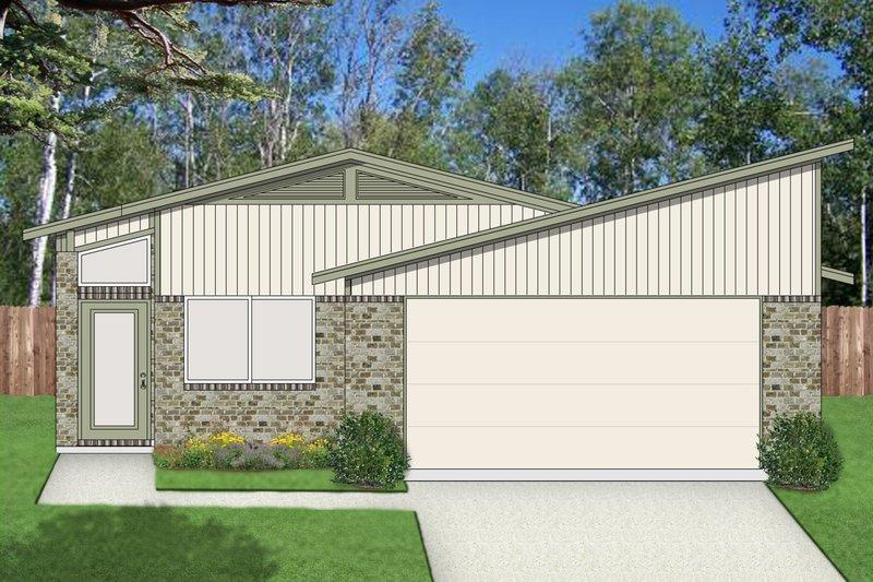Contemporary Exterior - Front Elevation Plan #84-513 - Houseplans.com