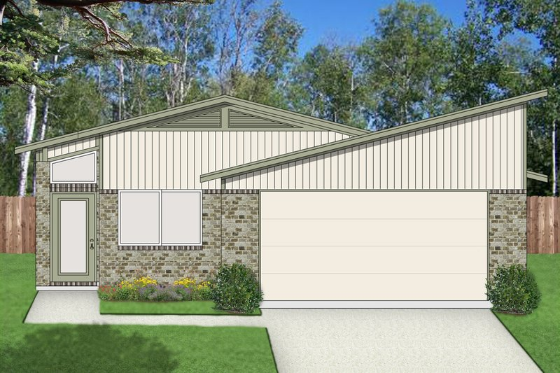 Dream House Plan - Contemporary Exterior - Front Elevation Plan #84-513