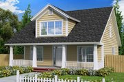 Cottage Style House Plan - 4 Beds 3.5 Baths 1871 Sq/Ft Plan #513-4 Exterior - Front Elevation