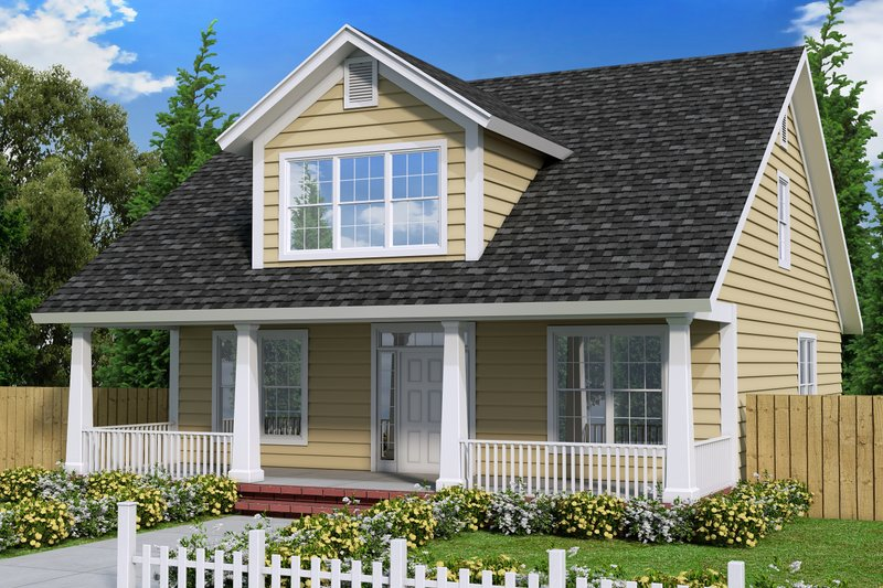 House Plan Design - Cottage Exterior - Front Elevation Plan #513-4