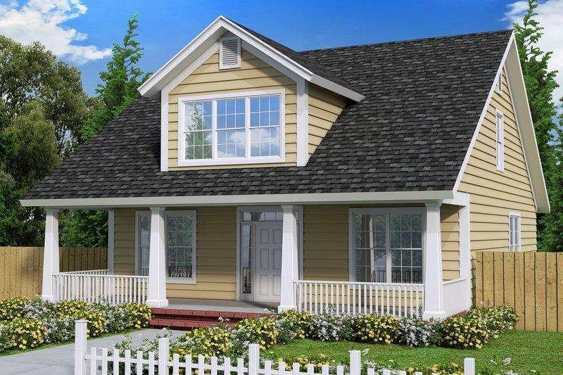 House Plan Design - Cottage Exterior - Front Elevation Plan #513-4