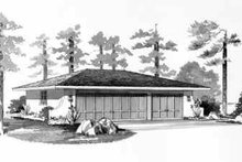 Traditional Exterior - Front Elevation Plan #72-239
