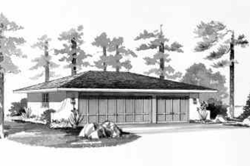 Traditional Exterior - Front Elevation Plan #72-239 - Houseplans.com