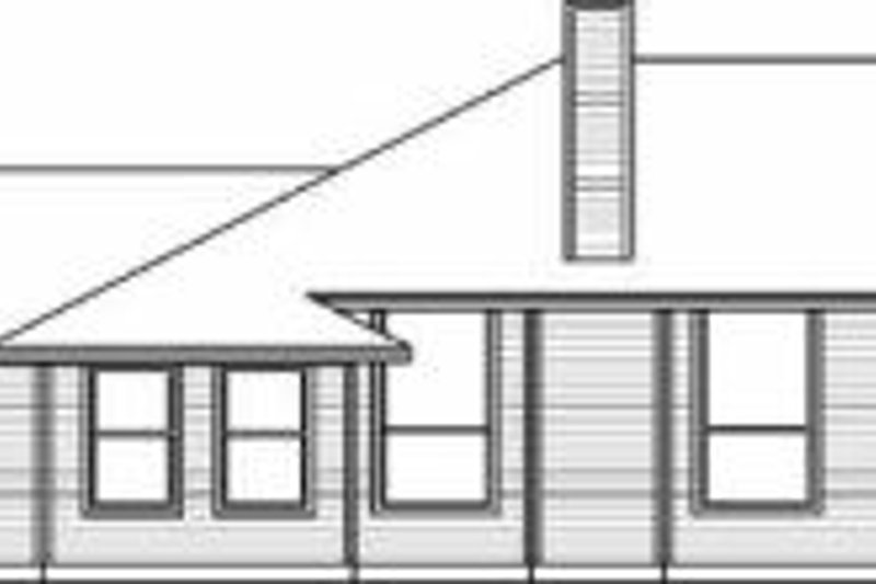 Traditional Exterior - Rear Elevation Plan #84-119 - Houseplans.com