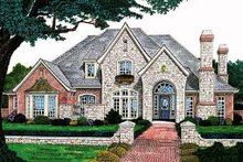 European Exterior - Front Elevation Plan #310-556
