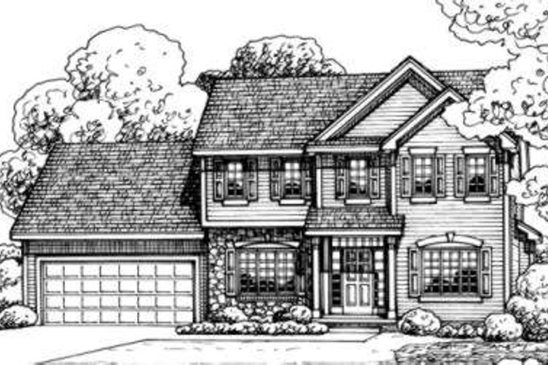 Traditional Exterior - Front Elevation Plan #20-1653