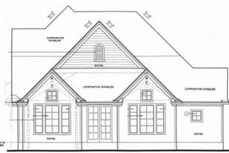 Traditional Exterior - Rear Elevation Plan #20-801 - Houseplans.com