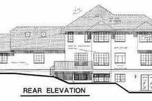 European Exterior - Rear Elevation Plan #18-220
