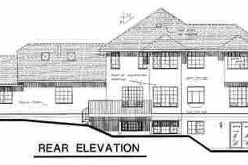 European Exterior - Rear Elevation Plan #18-220 - Houseplans.com