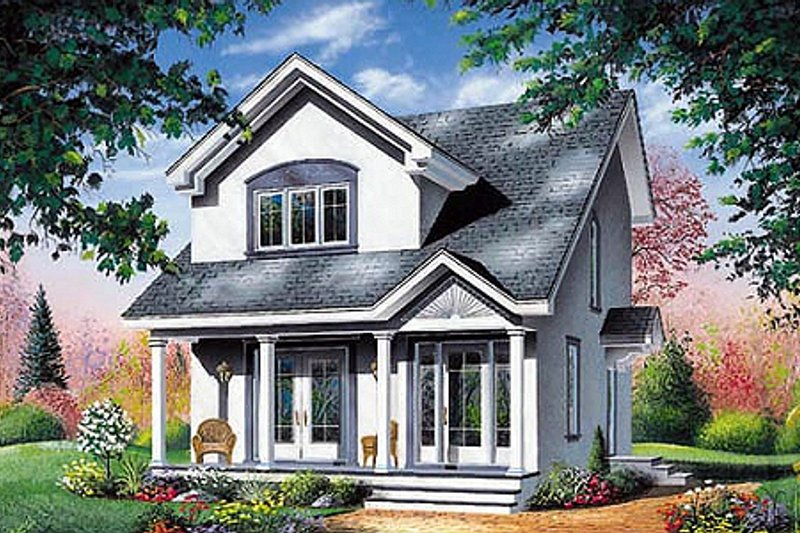 Farmhouse Style House Plan - 3 Beds 1.5 Baths 1310 Sq/Ft Plan #23-2094 Exterior - Front Elevation
