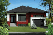 Contemporary Style House Plan - 3 Beds 1 Baths 1239 Sq/Ft Plan #25-4546 Exterior - Front Elevation