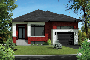 Contemporary Exterior - Front Elevation Plan #25-4546
