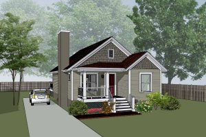 Home Plan - Bungalow Exterior - Front Elevation Plan #79-309