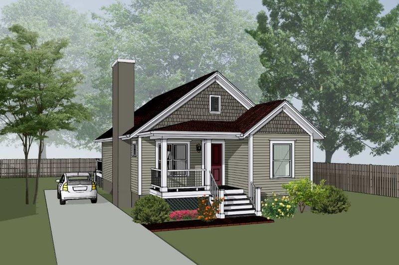 Home Plan - Bungalow Exterior - Front Elevation Plan #79-309