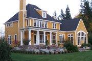 European Style House Plan - 4 Beds 3 Baths 3408 Sq/Ft Plan #137-117 Exterior - Rear Elevation