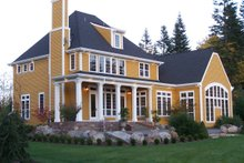 Home Plan - European Exterior - Rear Elevation Plan #137-117