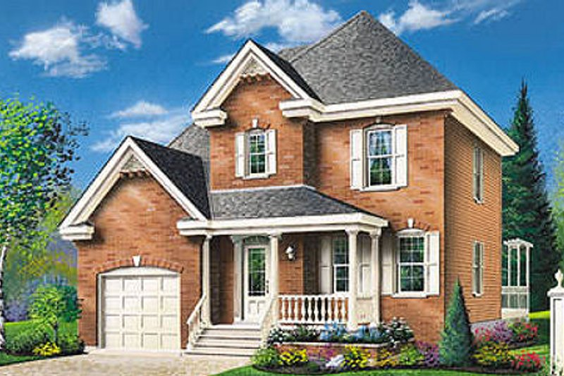 House Design - Traditional Exterior - Front Elevation Plan #23-212
